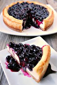 Delicious and creamy blueberry cheesecake with a luscious sweet tangy sauce that brings this dessert