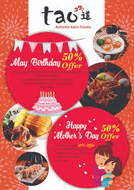 cuisine en promo tao cuisine may promotion birthday 50 s day 50