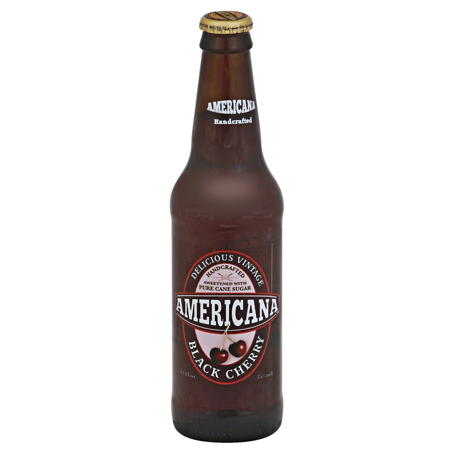 Americana Soda - Black Cherry, 12oz