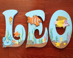 Finding Nemo Crib Bedding by Nemo Letters Etsy
