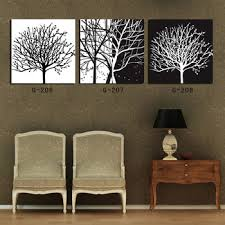 Get Quotations Free Shipping Abstract Art Tree Black And White Canvas Painting Print 3 Panel Wall 2014