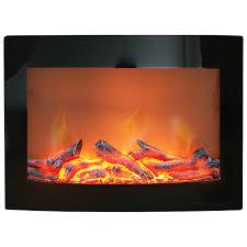 Paramount Daniel WallMounted Electric Fireplace 4600 BTU Black