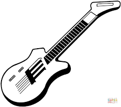 Click The Electric Guitar Coloring Pages To View Printable Version Or Color It Online Compatible With IPad And Android Tablets