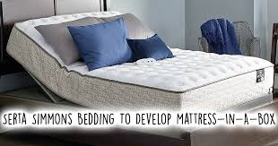 serta simmons bedding to develop mattress in a box offerings