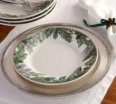 Evergreen Wreath Dinner Plate Set of 4