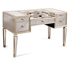 Z Gallerie Glass Dresser by Borghese Mirrored Vanity Desk Shine Fall Winter 2017 Trends