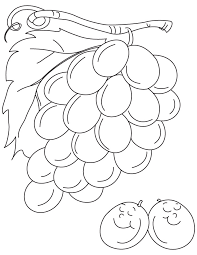Grapes Are Not Always Sour Coloring Pages