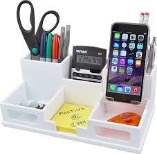 Desk Drawer Organizer Amazon by Amazon Com Victor Wood Desk Organizer With Smart Phone Holder