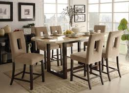 Dining Room Chairs Set Of 6 by Kitchen Tall High Back Upholstered Kitchen Chairs For 6 And