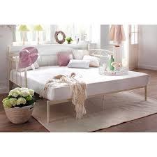 home affaire daybett birgit mit einer praktischen ausziehbaren liegefläche schönes metallgestell
