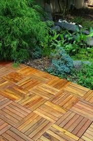 wooden deck tile pathway patio backyard pathways