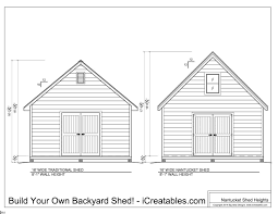 8 X 10 Gambrel Shed Plans by Shed Plans Heights Find Out How Tall Your Shed Will Be