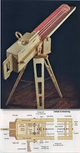 rapid fire rubber band gun children u0027s woodworking plans and