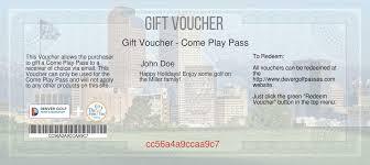 Redeem Voucher - Denver Golf Passes