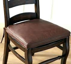 Dining Chair Seat Covers Cushions Wonderful Classic Leather Cushion Pottery Barn Pertaining To