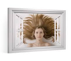 3d wandtattoo fenster haare frau frisur wand aufkleber wanddurchbruch wandbild wohnzimmer 11bd569