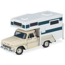 100 1966 Chevy Truck Amazoncom Classic With Camper Die Cast 124 Scale