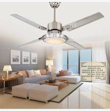 Dining Room Ceiling Fans With Lights Led Fan Light Remote Control Switch Luminous