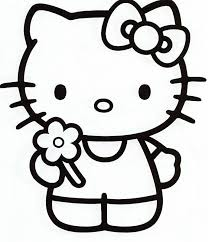 Hello Kitty Coloring Pages Bring A Flower