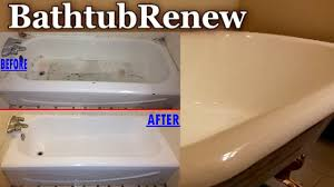 bathtub renew reglazing refinishing porcelain resurfacing youtube