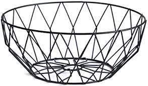 obstkorb aus eisendraht für obst gemüse wohnzimmer tisch esszimmer deko schwarz