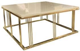 casa padrino luxus couchtisch grau gold 100 x 100 x h 45 cm quadratischer wohnzimmertisch mit glasplatte wohnzimmer möbel