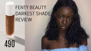 fenty beauty darkest shade review dyhair777 update l queentoïdé