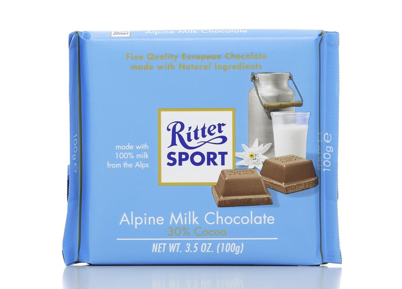 Ritter Sport Alpine Milk Chocolate - 100g