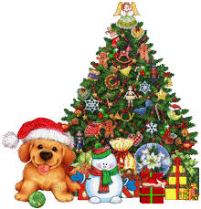 Animated Christmas Tree With Gifts And Snowman