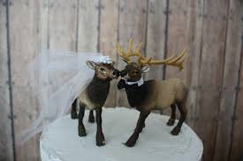 Elk Hunter Wedding Cake Topper Hunting Groom Camo Rustic Western Lover Deer Moose