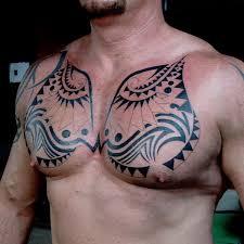 Tribal Chest Tattoo On TattooChief