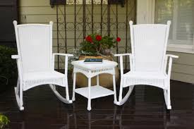 Furniture Wicker Lowes Rocking Chairs With White Cushions And ...