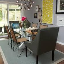 Eclectic Dining Room With Modern Chandelier