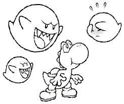Baby Mario And Yoshi Colouring Pages Coloring Download Print