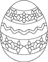 Draw Flower On Easter Egg Coloring Pages