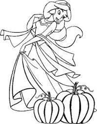 Ariel Halloween Coloring Pages Disney Princess