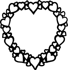 Full Image For Valentine Heart Frame Coloring Pages Printable