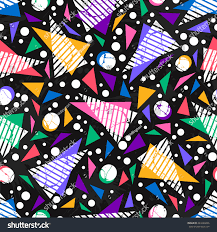 Bright Colored Seamless Pattern In Urban Style Graffiti Stylized Abstract Wallpaper With Grunge Effect And