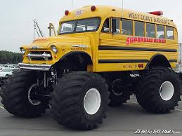 School Bus Monster Truck Now To Find One In Okc | Summer For Work ...