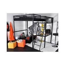 lit mezzanine noir avec bureau lit mezzanine bureau achat lit mezzanine bureau pas cher rue