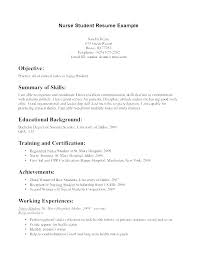 Nursing Resume New Grad Template Example Of Cover Letter Examples Nurse Resumes Enrolled Sample Examp Templates 2017