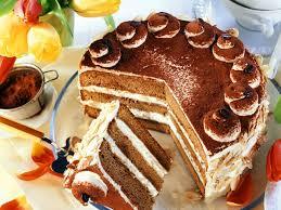 cremige kaffee cognac torte