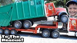 GARBAGE TRUCK Videos For Children L Kids Bruder Garbage Truck To The ...