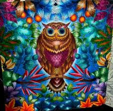 Art Coloring Book And Owl Image