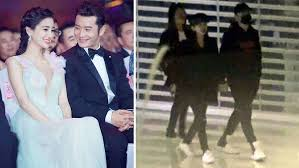 It Looks Like The Parents To Be Are Trying Their Best Squeeze Out Small Pockets Of Couple Time Whenever Possible Huang Xiaoming Who
