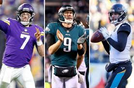 Case Keenum Nick Foles and Blake Bortles are still alive Just