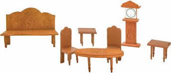 puppenhaus möbel set wohnzimmer puppenmöbel holz puppen zubehör braun spielzeug
