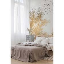 livingwalls fototapete artist golden skies mit baumkronen gold schwarz weiß