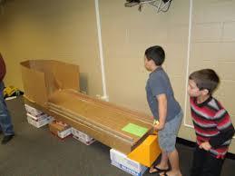 Hunt Club Creates A Cardboard Arcade For Annual Math And Reading Night 0
