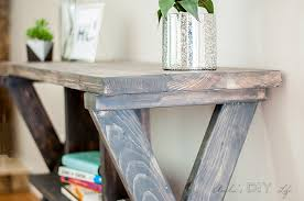 Make An Easy DIY Console Table With X Leg